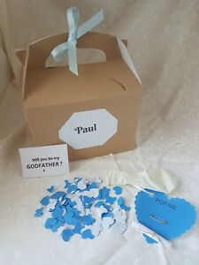 Will you be my Godfather, balloon in a box, wedding planning,