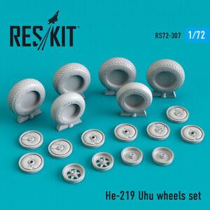 Reskit RS72-0307 He-219 Uhu wheels set for plastic model kit 1/72 scale