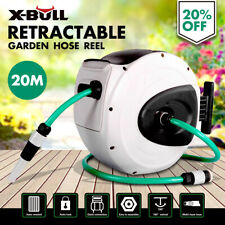 X-BULL Retractable 20M Hose Reel Water Garden Auto Rewind Bracket Wall MountTool