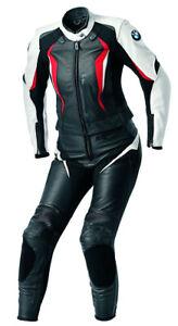 Women BMW LEATHER BIKER SUIT BIKER Leather Combi Ladies Motorcycle Leather Jacket Trousers 48