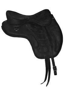 """New All Purpose Treeless Horse Saddle Black color (16"""" & 17"""") With free Girth"""