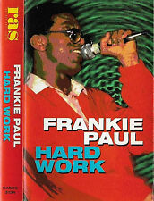 Frankie Paul ‎Hard Work  CASSETTE ALBUM Reggae Ras Records ‎RASCS 3134 USA