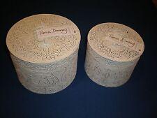HOME INTERIORS Roma Downey Aurora Pressed Tin Boxes Shabby Distressed Chic Decor