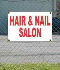 2x3 HAIR & NAIL SALON Red & White Banner Sign NEW Discount Size Price FREE SHIP