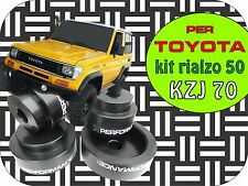 per TOYOTA KZJ 70 KIT RIALZO DISTANZIALI ASSETTO 50mm kit lift spacer rises
