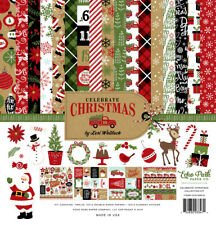 Echo Park - CELEBRATE CHRISTMAS 12x12 Scrapbook collection Kit Papers + Stickers