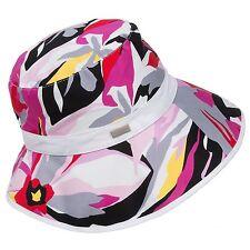 Betmar Palm Beach - Women's O/S - NWT - Magenta Tropical Floral Deco Bucket Hat