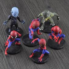 "6pcs Cute Spiderman The Lizard Amazing Spider-man 3.5"" Figure Car Accessories"