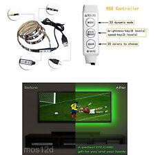 USB RGB 100cm LED Strip Light Colour Change Background Mood Lighting TV PC