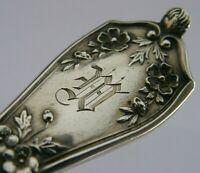 LARGE AMERICAN STERLING SILVER CAKE SERVER SERVING FORK 7.5inch ART NOUVEAU