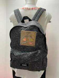 Victoria's Secret PINK Mini Backpack and Pin Set in Gray
