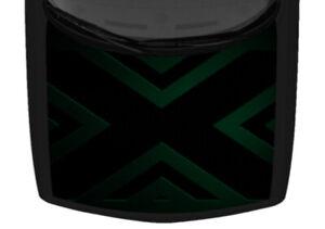 Abstract X Metal Dark Teal Grunge Tattoo Truck Car Hood Wrap Vinyl Decal Graphic