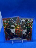 2020 Mosaic Red And Green Reactive Base And Nfl Debut Jalen Reagor (2) Card Lot
