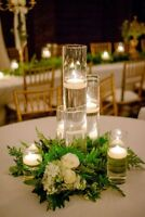 NEW 20 bulk Cylinder Vases Wedding Glass Table Centerpiece Candle holders 9 in