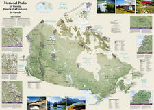 """NATIONAL PARKS OF CANADA POSTER by National Geographic 30""""x42"""" Rolled Wall Map"""