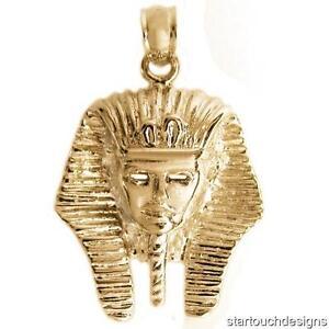 New 14k Yellow Gold King Tut Pendant