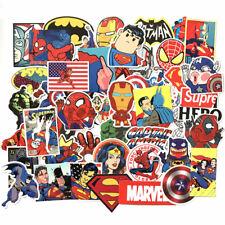 50Pcs Stickers MARVEL Avengers Super Hero DC Comic Car Laptop Notebook Decal Fri