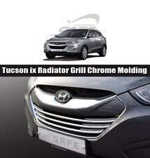 SAFE Radiator Grill Chrome Molding 3Pcs K980 For Hyundai Tucson 2011 2015