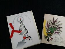 Two Vintage Christmas Cards from 1937