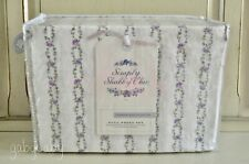 Simply Shabby Chic Lavender Jewel Ditsy Rose FLORAL BRAIDED STRIPE Sheet Set NEW