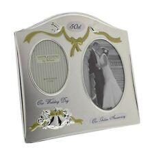 Widdop FS55050 Juliana Photo Frame SilverPlated Double Anniversary 50th Gift NEW
