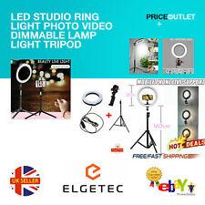 "LED Ring Light 10"" Dimmable Lighting Kit Phone Selfie Tripod Stand Lamp Live UK"