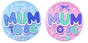 Baby Shower Party Badge Mum to Be Boy Girl Gender Reveal Game Decorations