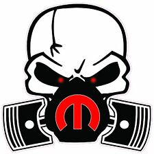 "Skull Mask Mopar Red Large Decal 12"" in size Free Shipping"