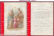 3556 SANTINO HOLY CARD LA SACRA FAMIGLIA MODELLO A. E M. B.