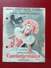 """Danish movie program.""""Die Csardasfürstin"""" by Georg Jacoby. Marika Rökk."""