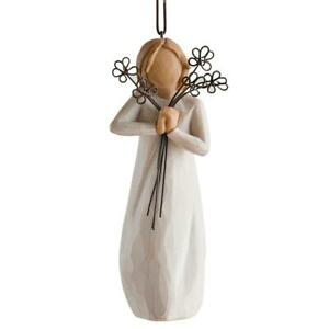 Willow Tree Hand Painted Hanging Figurine, Ornament, Sculpted, Small, Friendship