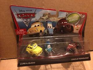 DISNEY CARS DIECAST - Luigi, Guido & Uncle Topolino - See Description
