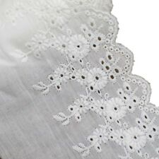 "4-1/4"" Cotton Eyelet Lace Trims for Dress and Decorative Supply pack of 15 yards"
