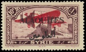 """ALAOUITES C12 - View of Aleppo """"Airplane Overprint"""" (pb34973)"""