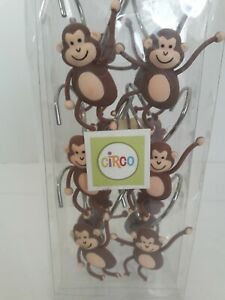 Circo Shower Hooks Monkey Chimps Set of 12 Metal