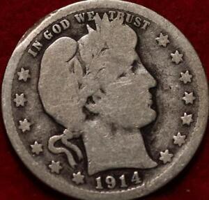 1914 Philadelphia Mint Silver Barber Quarter