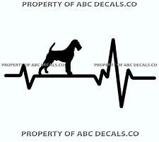 Heart Beat Line Dog Irish Terrier Racy Show Love Adoption Rescue Car Vinyl Decal