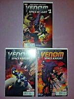 VENOM SPACE KNIGHT #1 2 3 1st print Marvel Comics LOT 2015 Robbie Thompson NM