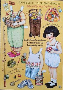MARY ENGELBREIT Mag. Paper Doll, Gracie, Aug/Sep 2003, Uncut
