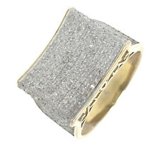 MEN'S .75CT GENUINE REAL DIAMOND 10K 100% YELLOW GOLD PINKY RING BAND NEW 7.5 SZ