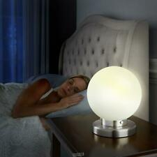 SLEEP INDUCING GLOBE Table LED LAMP TIMER DIMMER BRUSHED NICKEL Light
