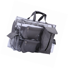 MUA LIMITED Easy Access Cosmetic Carry All Bag, Clear Makeup Artist Organiser wi