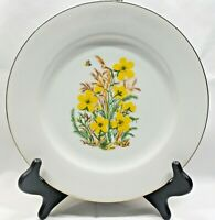 Vintage Order of the Eastern Star Masonic Collector Plate Yellow Flowers 1979-80