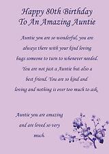 Auntie 80th birthday card