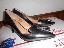 Banana Republic Silver Leather Heels Pumps 10 M