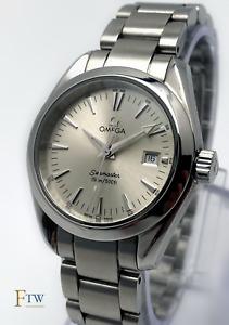 Omega Seamaster Aqua Terra Ladies Watch Quartz 30mm 2577.30.00 Silver Dial