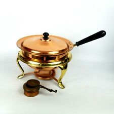 Vintage Copper Chafing Dish Food Warmer Made in Japan Warming Tray