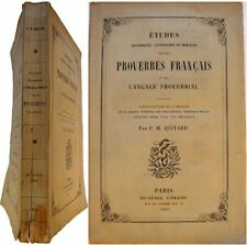 Etudes morales historical french proverbs proverbial language 1860 quitard