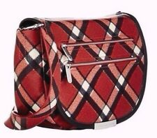 Marc Jacobs Luna Cambridge Red Plaid Cross body & Dust Cover Nwt