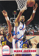 MARK JACKSON LOS ANGELES CLIPPERS SIGNED CARD WARRIORS PACERS KNICKS RAPTORS
